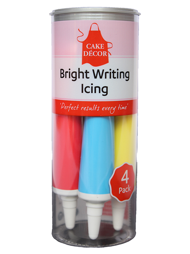 Cake Décor Bright Writing Tubes