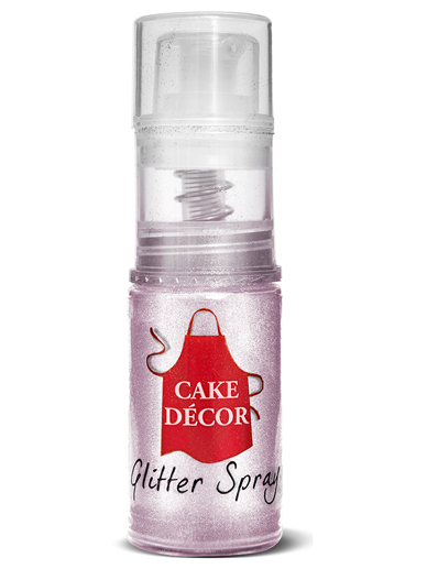 Cake Décor Glitter Pump-Powder Non-Aerosol Spray - Pink