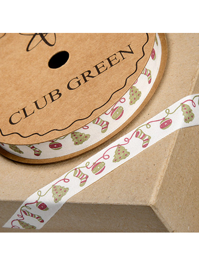 Christmas Decorations Printed Ribbon - 16mm x 10m