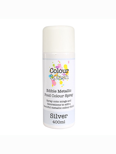 Colour Splash Edible Metallic Spray - Silver 400ml