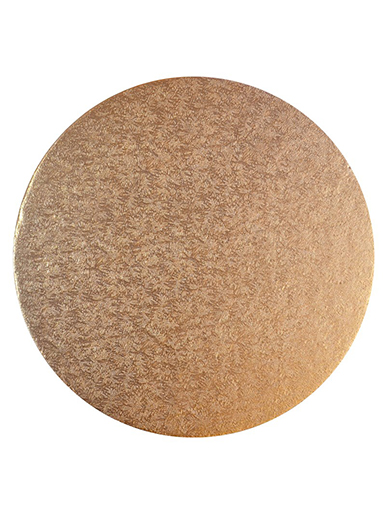 Round Thick Cake Board Drum - Rose Gold