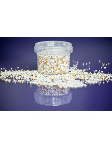Shimmer Gold & Pearl Mix Non Pareils Edible Decorations - 100g