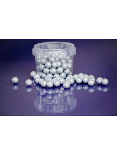 Pearl Silver - Large Sugar Pearls 10mm - 80g