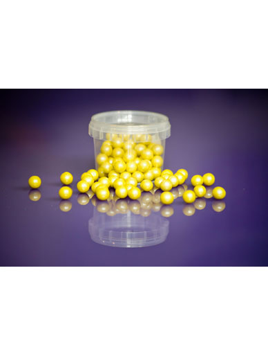 Pearl Yellow - Large Sugar Pearls 10mm - 80g
