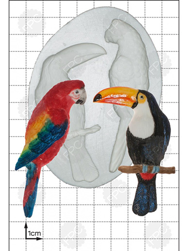 Parrot & Toucan Silicone Mould