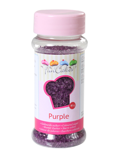 FunCakes Sugar Crystals - Purple 80g