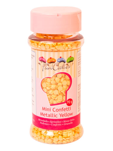 FunCakes MINI Confetti - Metallic Yellow 70g