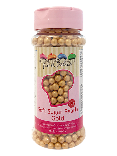 FunCakes Soft Pearls  - Gold 60g