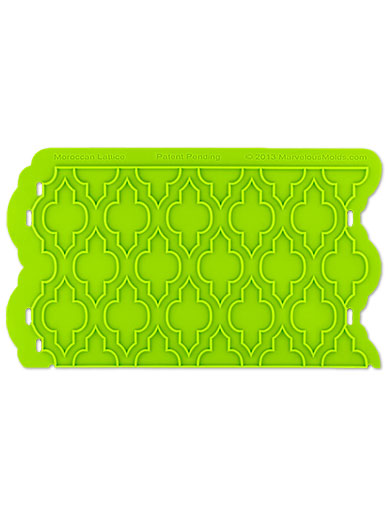 Moroccan Lattice Silicone Onlay Mould - Marvelous Molds