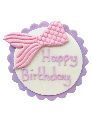Happy Birthday Plaque - Mermaid Tail