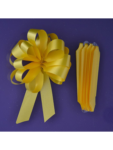 Quick Pull Cupcake Bouquet Bow 18mm - Yellow