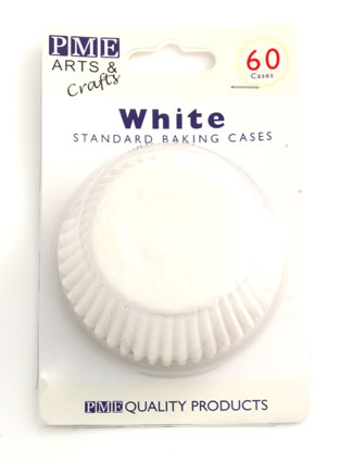 White Baking Cases 60 pack