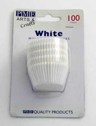White Mini Baking Cases 100 pack