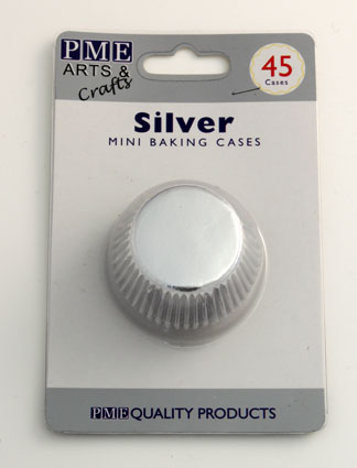 Silver Mini Baking Cases 45 pack
