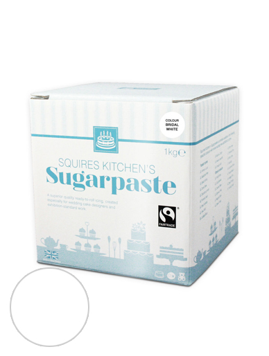 Bridal White Squires Kitchen Fair Trade Sugarpaste 1kg