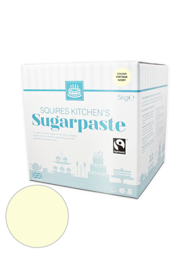 Vintage Ivory Squires Kitchen Fair Trade Sugarpaste 5kg