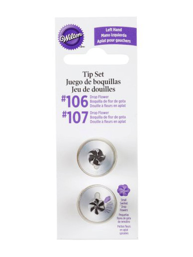 Wilton Left Hand Flower Tip Set - Set of 2